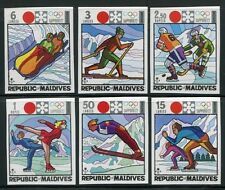 MALEDIVEN MALDIVE 1972 Olympiade Olympics Sapporo Ungezähnt Imperf. 407-12B **