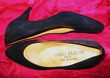 CHARLES JOURDAN SHOES BLACK SUEDE LEATHER CLASSY PUMPS!S 5.5 B/36!MADE IN FRACE