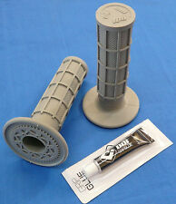 HONDA TRX 400EX TRX400EX ODI FULL WAFFLE MX GRIPS GLUE GRAY NEW TWIST THROTTLE