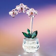 New Crystal World Art Shade Orchid Figurine Miniature