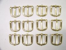 LEATHER CRAFT BUCKLES~~# 12 BELT BUCKLE~~SOLID BRASS~~1 INCH SIZE~~(12) QUANTITY