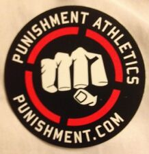 "Punishment Athletics Sticker Tito Ortiz Casual MMA 3 1/2"" Diameter"
