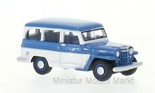#87010 - BoS Jeep Willys Station Wagon - blau/weiss - 1954 - 1:87