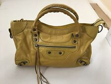 BESSO Leather Motorcycle City Bag - Yellow