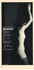 PUBLICITE ADVERTISING 064  1963  DRALON  slips sous vetements
