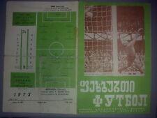 Programme Dynamo Tbilisi - OFK Belgrade Serbia Yugoslavia 1973-74 UEFA CUP