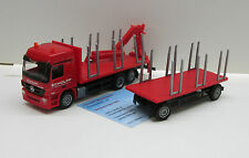 "Herpa 302142: MB Actros L ments-lorry trailer with crane and Charge ""Scholpp"