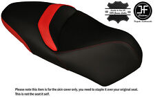 RED & BLACK CUSTOM FITS PIAGGIO MP3 YOURBAN LT 300 DUAL LEATHER SEAT COVER