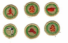 6 VINTAGE TAN EMBROIDERED BOY SCOUTS OF CANADA PROFICIENCY BADGES (1)