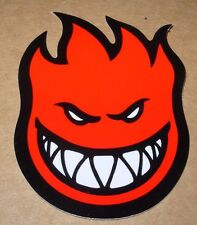 "SPITFIRE RED Logo Skate Sticker 4.5 X 6"" skateboards helmets decal"