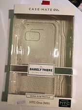 CASE-MATE Barely There Clear Protector Case for HTC ONE M9 CM032371 Brand New