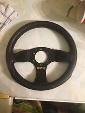Genuine Sparco 300mm Steering Wheel Suede Solid Construct Jdm Vag Vw Classic Car