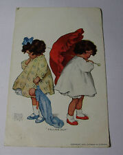 "K220 - 1909 BESSIE COLLINS PEASE ""Falling Out"" Girls Sisters Children POSTCARD"