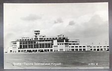 1940's SEATTLE TACOMA INTERNATIONAL AIRPORT A95A RPPC real photo postcard
