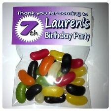 12 x Party Bags & Toppers Personalised Fill with your own choice of sweets