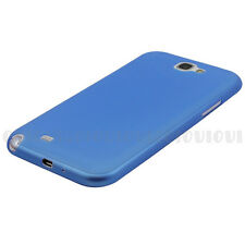 Blue Ultra Thin Translucent Matte Cover Case for Samsung Galaxy Note 2 II N7100