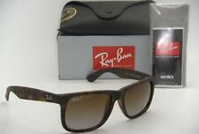 RAY-BAN JUSTIN RB 4165 865/T5 55MM RUBBER HAVANA / BROWN GRADIENT POLARIZED