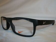NIKE 7090 EYE GLASSES FRAME 018 MATTE BLACK CRYSTAL BLUE 53-17-140 NEW AUTHENTIC