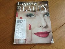 Vintage Vogue's 'new' Beauty Book Vogue 1958 - 1959 Hair Make-up Beauty Perfume