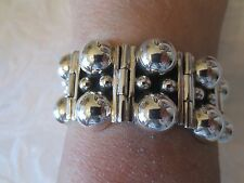 Taxco Mexico Sterling Silver Dual Ball Bracelet