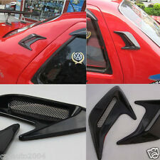 Car Air Intake Flow Vent Fender Decoration Side Hood Cover Badge #VA11 Black