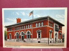 Postcard OH Akron Post Office