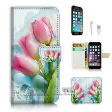 iPhone 7 (4.7') Flip Wallet Case Cover P2265 Flower Painting
