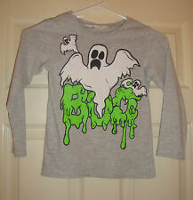 "H/&/M~girl's~HALLOWEEN/SILK/SCREEN/GHOST'S/GOBLINS/TOP! (4~6Y) ""euc"" Free/Ship!"