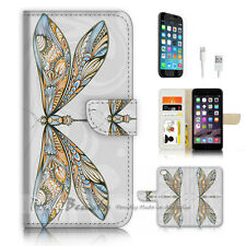 iPhone 7 PLUS (5.5') Flip Wallet Case Cover P3489 Dragonfly