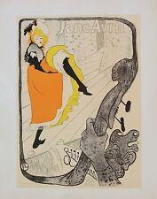Toulouse Lautrec Jane Avril at the Jardin de Paris Original Litho