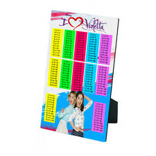 Disney Violetta Times Tables MDF Photo Panel 5'' x 7'' with Easel