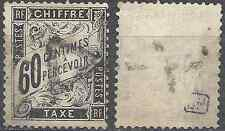 ---- FRANCE TIMBRE TAXE N°21 - OBLITÉRATION TRIANGLE + PLUME - COTE 65€ ----