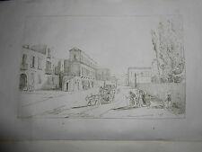 1845 ACHILLE GIGANTE ACQUAFORTE RESINA VILLA RIARIO SFORZA ERCOLANO NAPOLI
