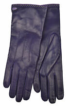 [83 16] COACH NWT WOMEN 83875 PLUM PURPLE GENUINE LEATHER CASHMERE GLOVES 7.5