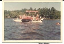 "Found Color Photo - Pontoon Boat on the Lake - Summer 1965 - 5"" X 3 1/2"""
