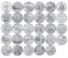 Selection of Collectable Fifty Pence Coins (50p) 1998-2014 Kew Gardens Olympic