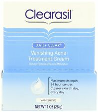 Clearasil Daily Clear Vanishing Acne Treatment Cream 28gm, 10% Benzoyl Peroxide