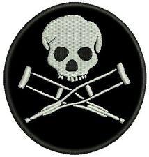 JACKASS SKULL LOGO PATCH EMBROIDERED BIKER SKATEBOARD