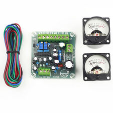 2pcs Panel VU Meter Warm Back Light Audio Level Amp + 1pcs VU driver board
