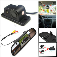 "4.3"" TFT Rearview Mirror Screen+ Rear View Camera Parking Reversing Radar Sensor"