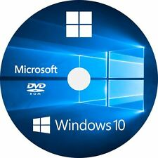 Microsoft Windows 10 Pro 64-bit Re-Install/Recovery/Repair Bootable DVD Backup