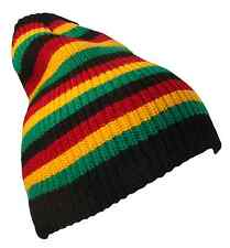 Striped Jamaican Reggae Rasta Knit Beanie Cap Hat Caps Hats Black Red Gold Green