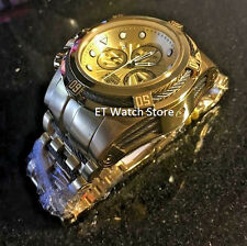 Invicta Reserve 52mm Bolt Zeus Swiss Parts Quartz Chronograph 23913 Gold Tone
