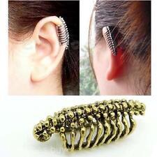 Vintage Women Men Vertebra Backbone Ear Bone Skull Clip Non Piercing Earring Hot