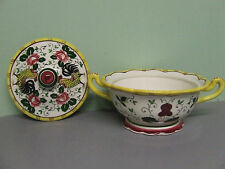 VHTF/Vintage Ucagco PY Early Provincial Rooster & Roses Covered Candy Dish
