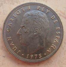 5 Pesatas Juan Carlos I° di Spagna 1975 - n. 1145