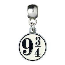 Official Harry Potter Silver Plated Platform 9 3/4 Slider Bracelet Charm - New
