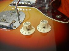 65 -1980 2 Fender Jazzmaster  Witch Hat Knobs Relic / Aged '66 67 68 69 70 71 72