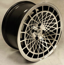 "15"" BLACK MACHINED ST7 ALLOY WHEELS 4X100 VW JETTA LUPO HONDA CIVIC INSIGHT CRX"