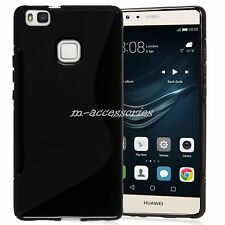 S-line Silicone Gel Case Cover Skin For Huawei P9 Lite Mobile Phone Black